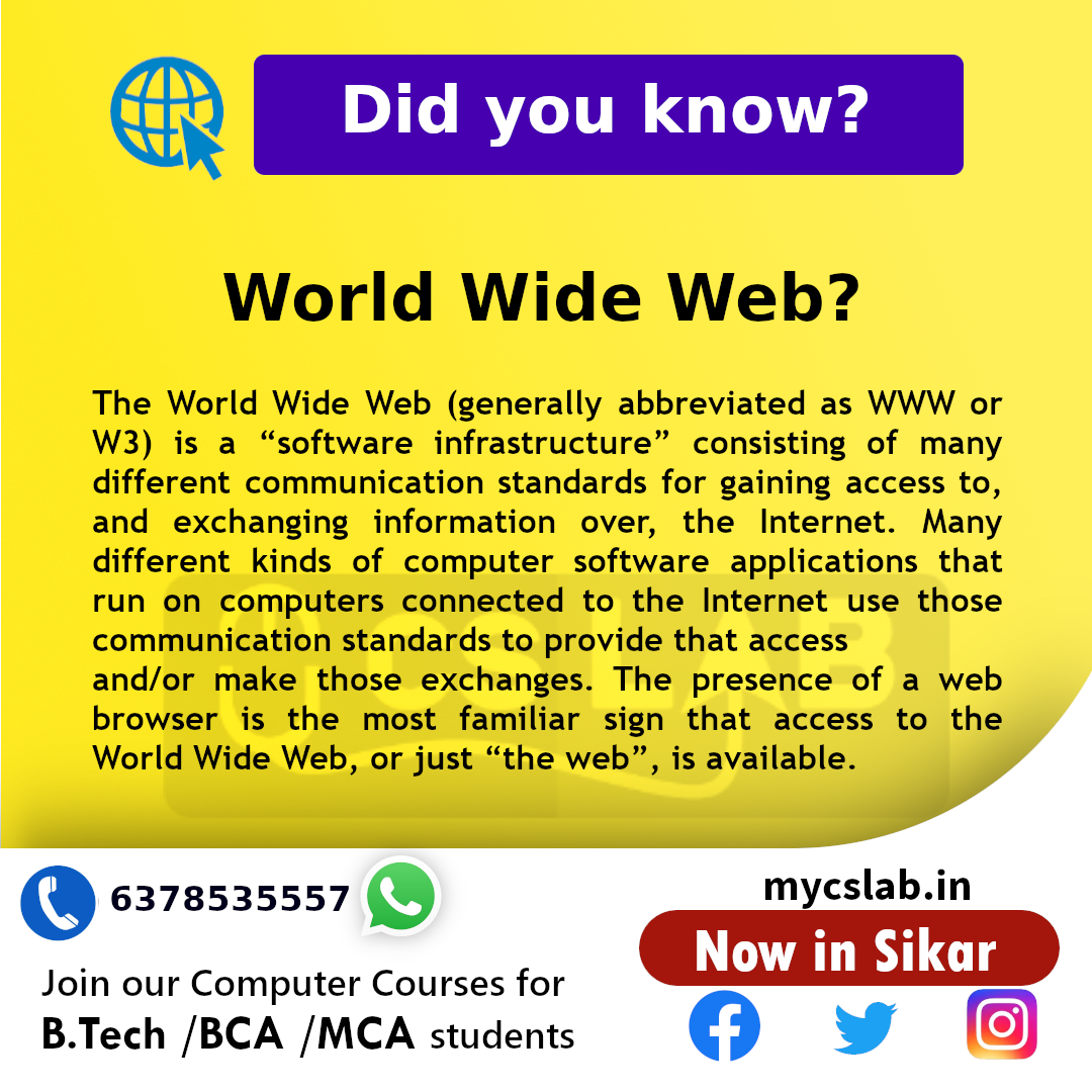 What is World wide web?