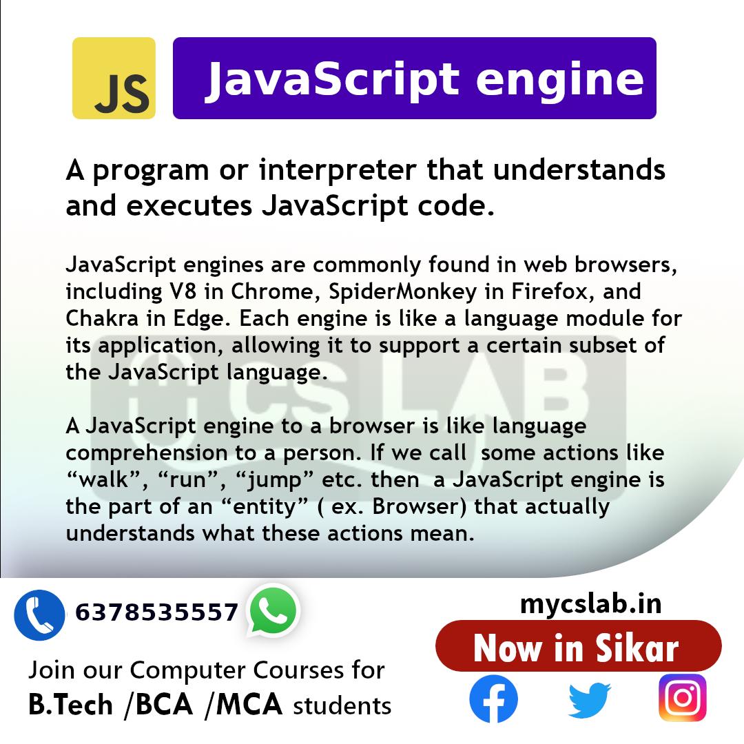 JavaScript Engine : Did You know?