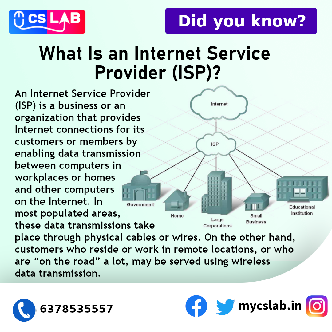 What Is an Internet Service  Provider (ISP)?